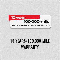 10 YEAR/100,000 Mile Warranty