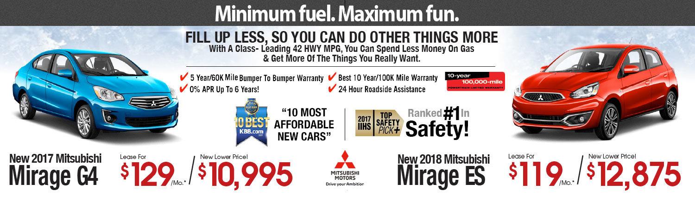 2017 & 2018 Mitsubishi Mirage Lease Special