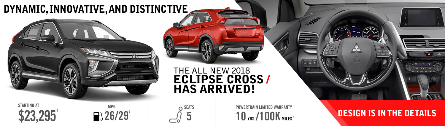 The 2018 Eclipse Cross Has Arrived!