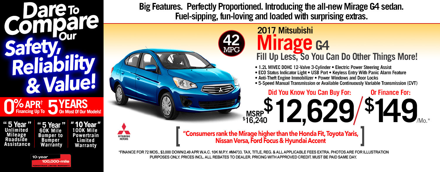 2017 Mitsubishi Mirage G4 at Michaud Mitsubishi