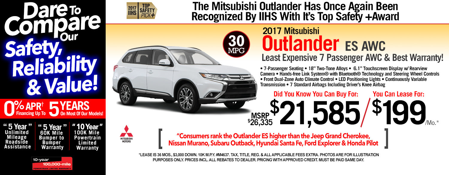 2017 Mitsubishi Outlander ES AWC at Michaud Mitsubishi
