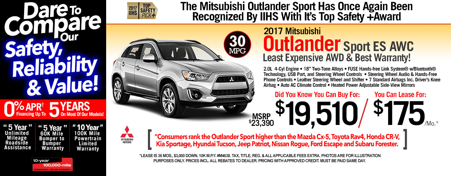 2017 Mitsubishi Outlander Sport ES AWC at Michaud Mitsubishi
