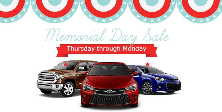 Toyota Memorial Day Sales