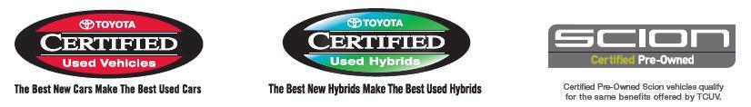 Toyota Certified Logos