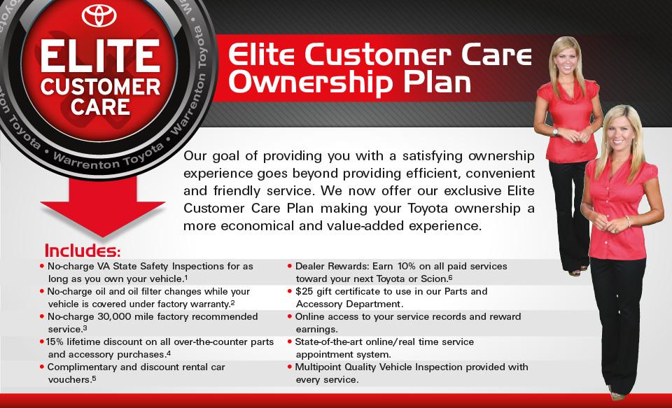 Elite Customer Care Ownership Plan