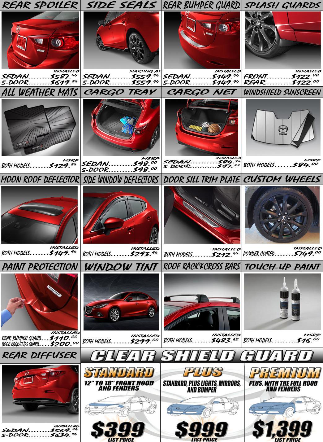 New Mazda 3 Accessories