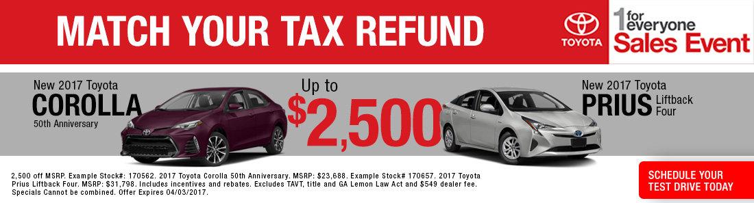 New 2017 Toyota Corolla and Prius sale Savannah GA