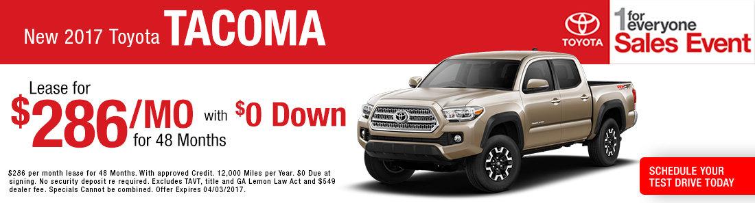 New 2017 Toyota Tacoma sale Savannah GA