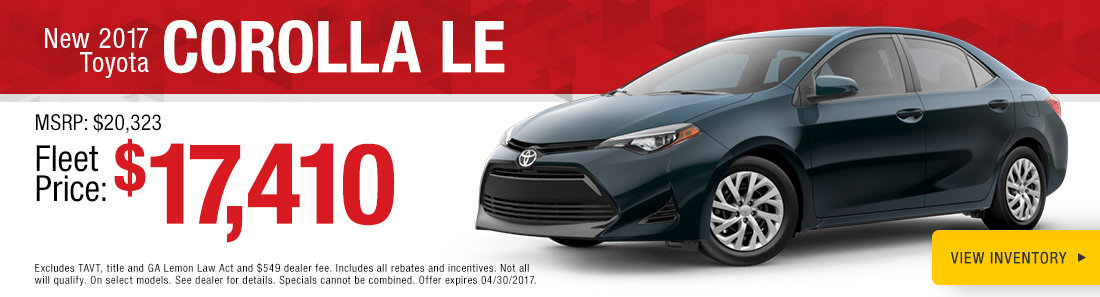 New 2017 Toyota Corolla LE Savannah GA