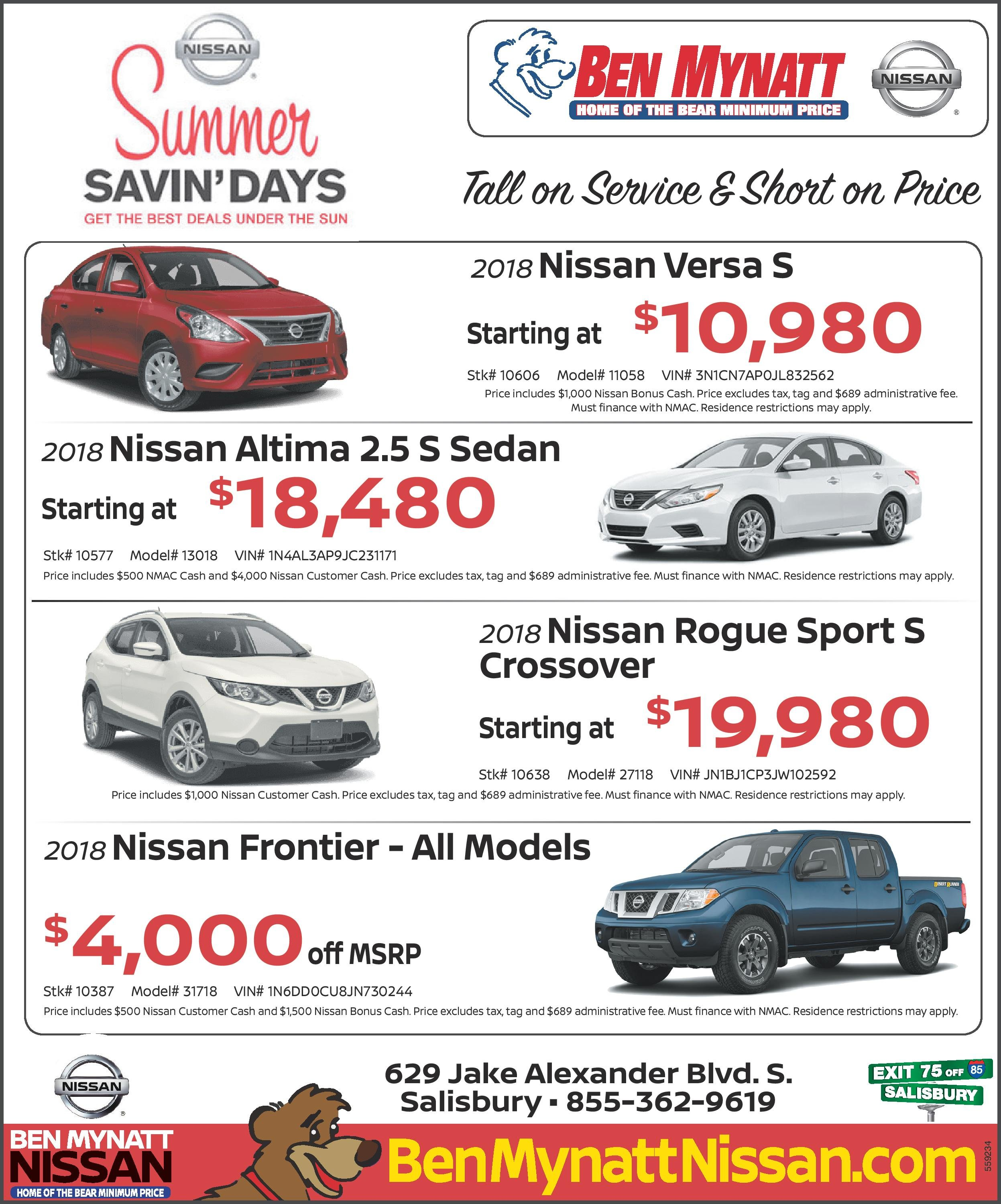 Specials on New Nissan Vehicles for Sale | Car, Truck & SUV Sales in ...