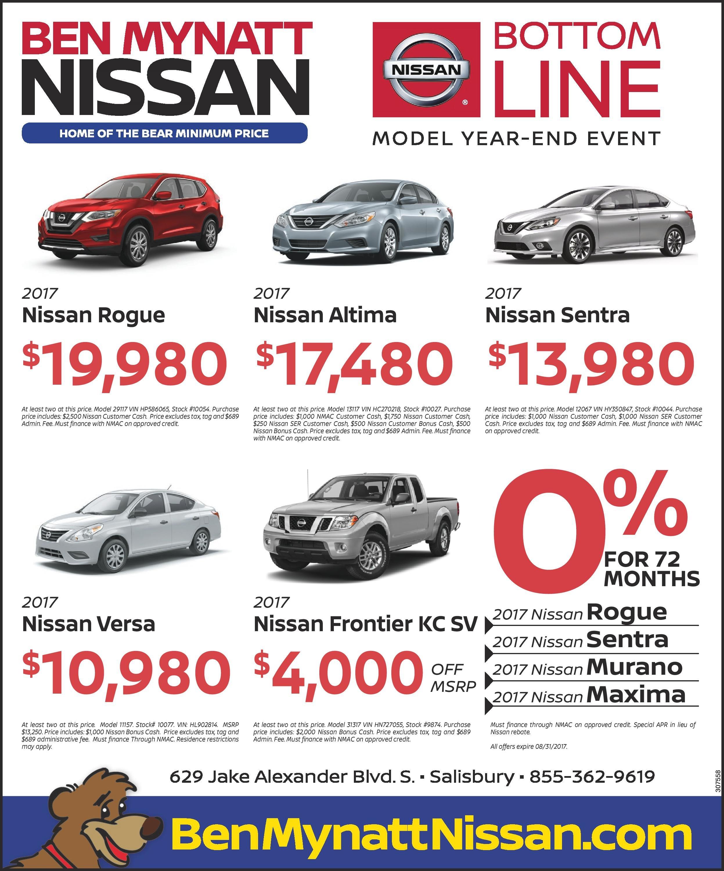 Ben Mynatt Nissan Bottom Line Sales Event