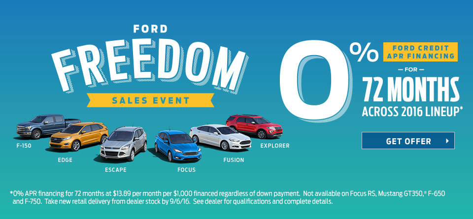 Ford Freedom Sales Event