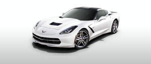 Arctic White 2015 Corvette