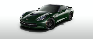 Lime Rock Green 2015 Corvette