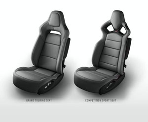 Gray 2015 Corvette Seats