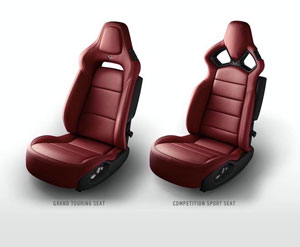Burgundy 2015 Corvette Seats