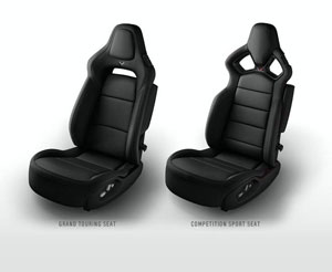 Black 2015 Corvette Seats