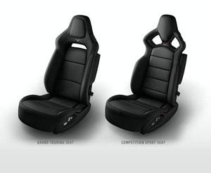 Black 2015 Corvette Seats