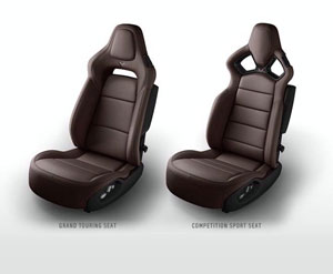Brown 2015 Corvette Seats