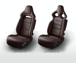 Brown 2015 Corvette Seats