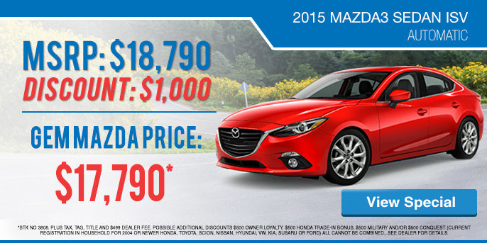 Mazda3 Lease Special in Tallahasse