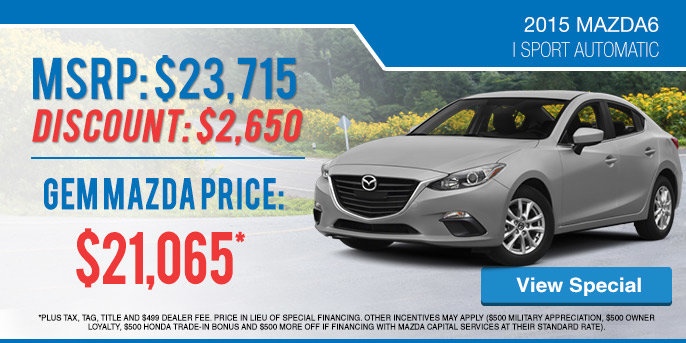 Mazda6 Lease Special in Tallahasse