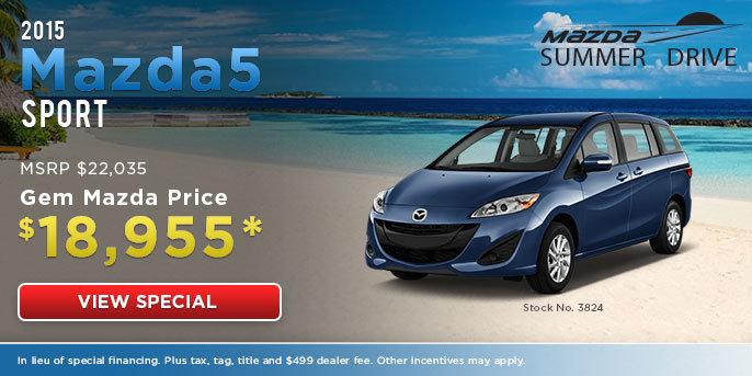 Mazda5 Special Offer at Gem Mazda