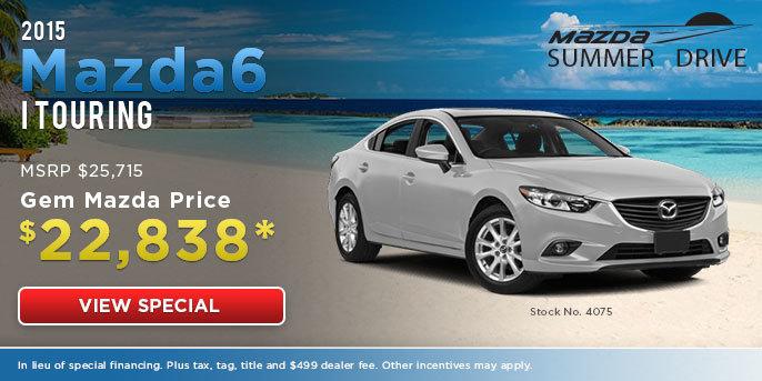 Mazda6 Special Offer at Gem Mazda