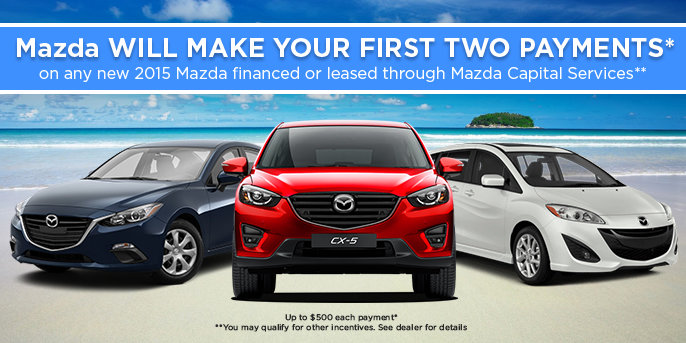 Mazda Will Make Your First Twp Payment