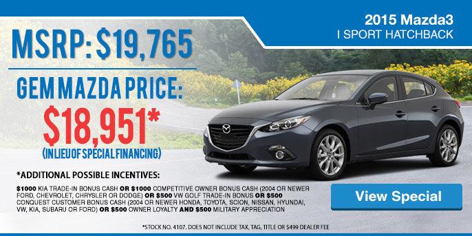 2015 Mazda3 Special