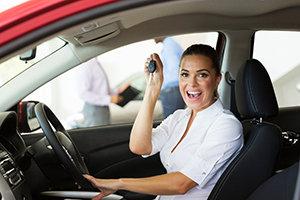 Happy Used Car Buyer
