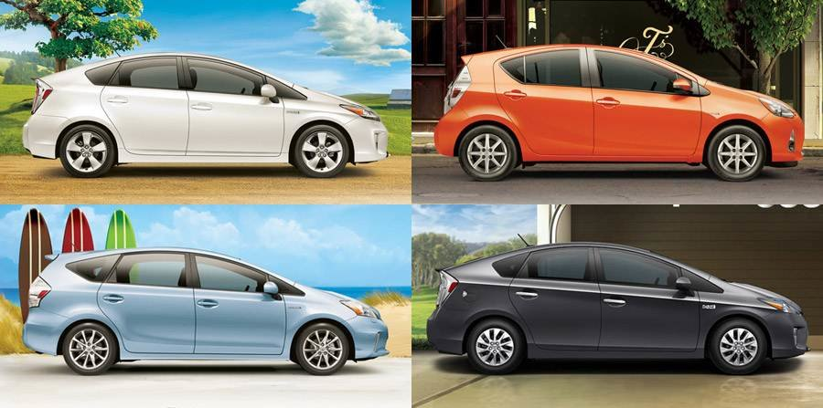 Compare Toyota Prius Models Toyota Hybrid Vehicles For