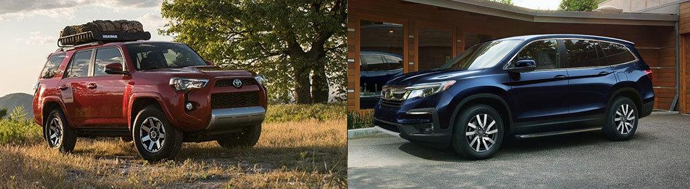 The 2018 Toyota 4Runner vs  the 2018 Honda Pilot   New SUVs for Sale