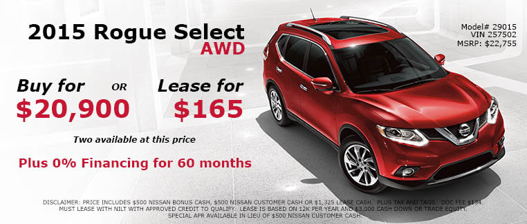 Nissan Rogue Select AWD