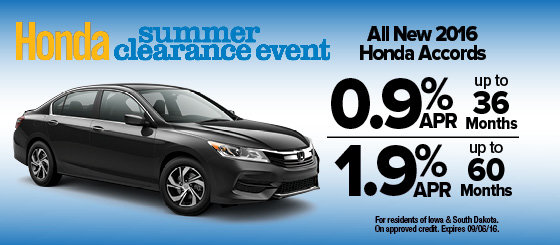 New hondas for sale in the omaha area honda cars of for Honda dealers in iowa
