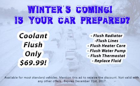 Coolant Flush Promotion