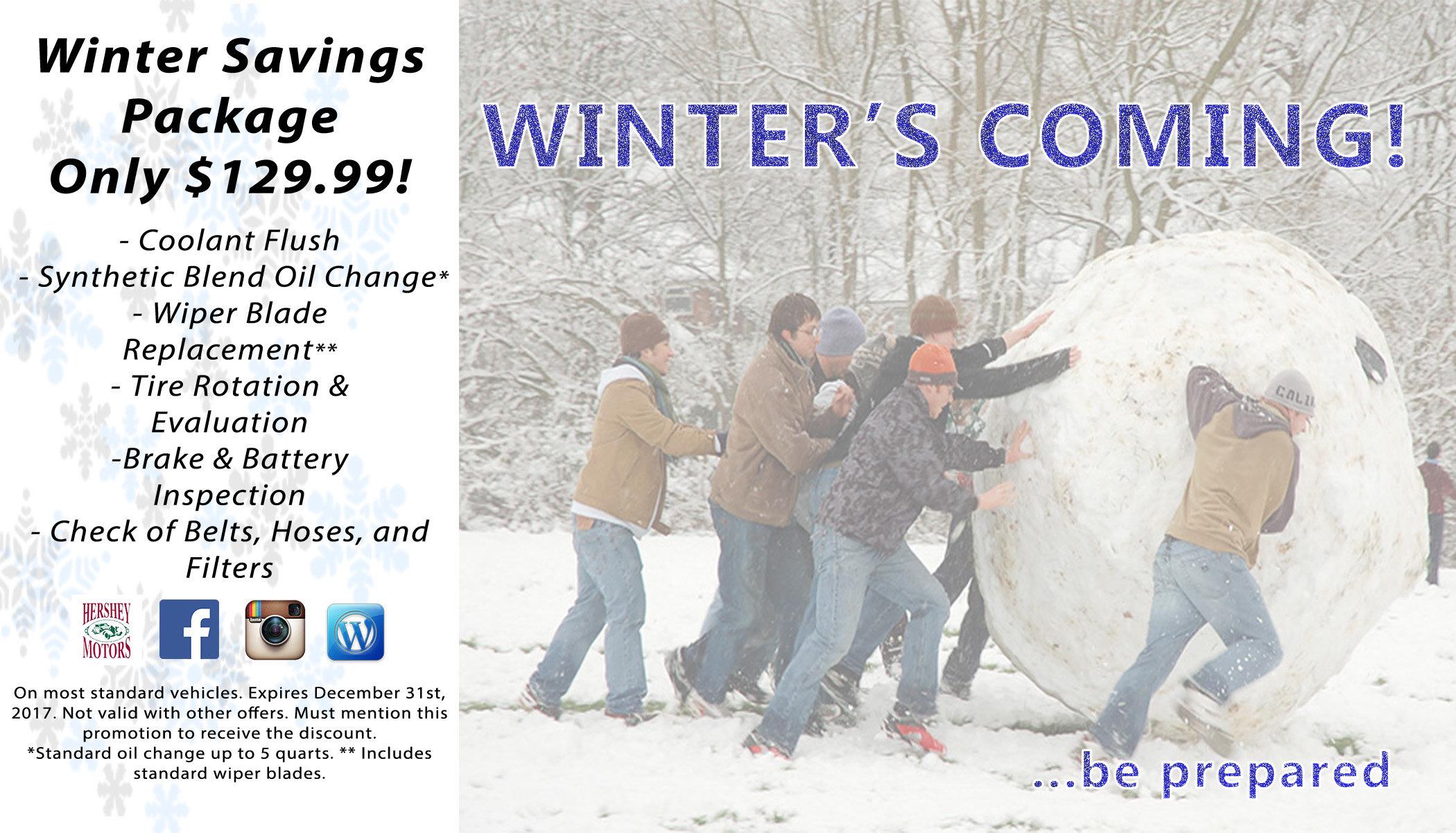 Winterization Service Package