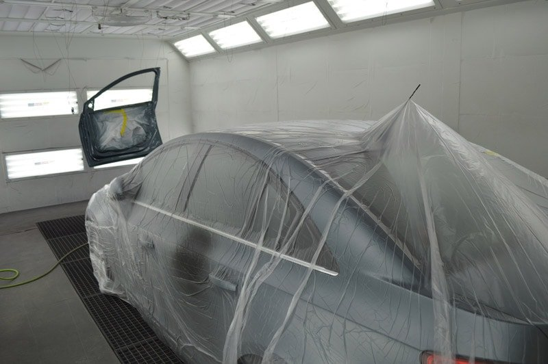 Car being painted