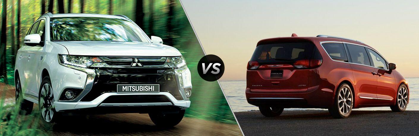 2018 Mitsubishi Outlander PHEV vs 2018 Chrysler Pacifica Hybrid