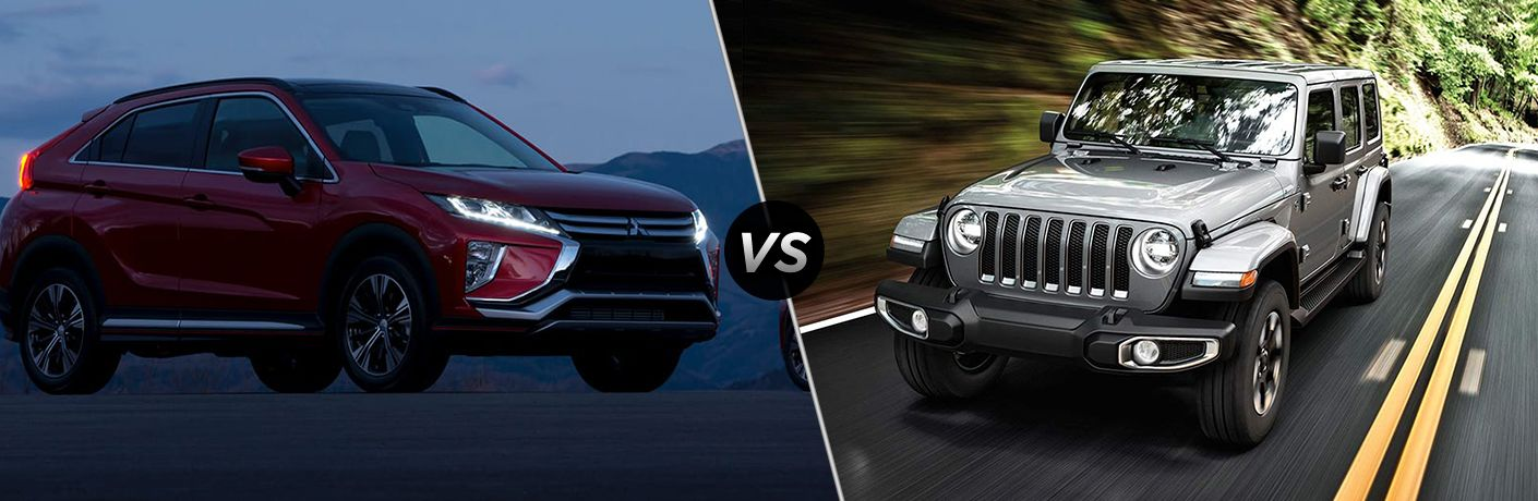 2019 Mitsubishi Eclipse Cross vs 2019 Jeep Wrangler