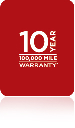 10 Year 100,000 Mile Warranty