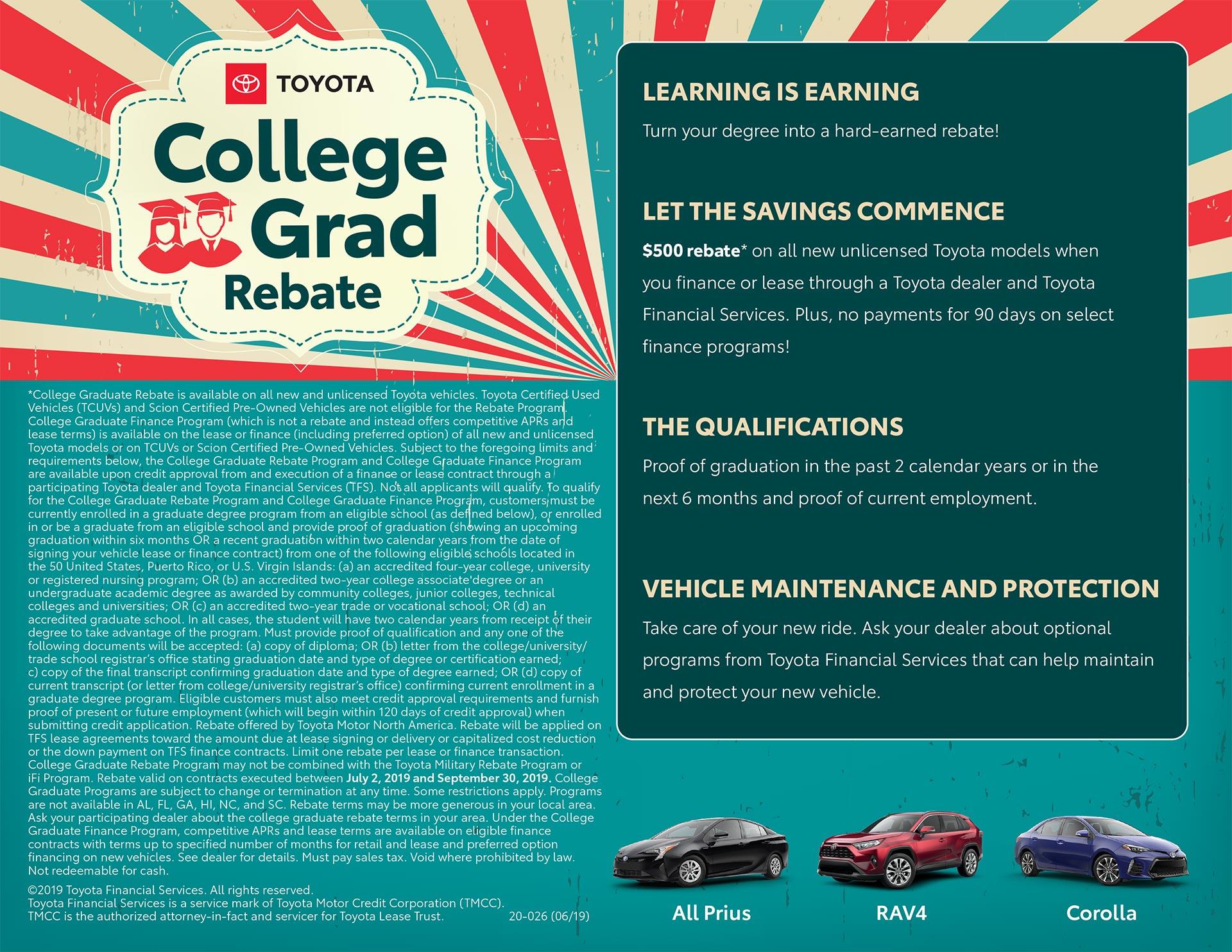 Toyota College Grad Rebate
