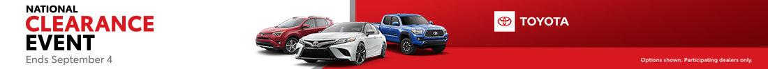 Toyota Clearance Event!