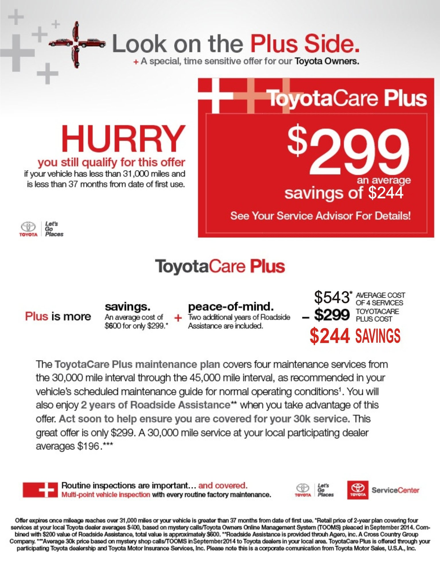 Toyota Care Plus >> Toyotacare Plus Peace Of Mind For The Unexpected Superior Toyota